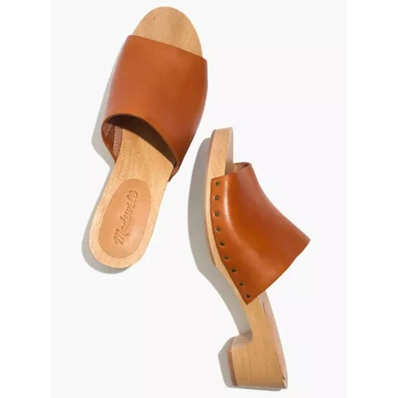 MADEWELL Leather Wooden Clog Sandals